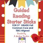 Guided Reading Starter Sticks Fall {Common Core and TEKS A