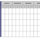 Guided Reading Weekly Schedule