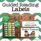 Guided Reading/Balanced Literacy Center Choice Cards and # Labels