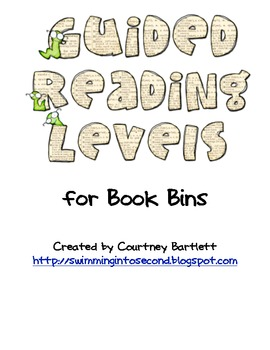 Guided reading level labels - no background