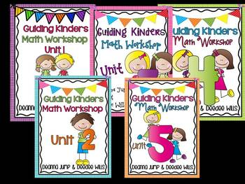 Guiding Kinders:  Math Workshop Bundle Units 1-5 { Common Core Aligned }