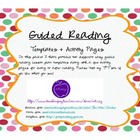 Guiding Reading Template and Activity Sheets