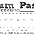 Gum Pass (Black and White)