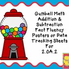 Gumball Math Addition & Subtraction Fact Fluency Data Trac