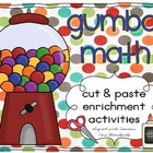 Gumball Math Cut &amp; Paste Enrichment Activities