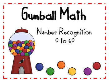 Gumball Math Number Recognition 0-60