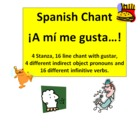 Gusta + Infinitive & Gustar Verbs Song Chant Rhyme - Noteb