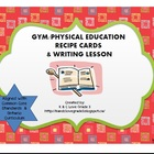 Gym Recipe Cards &amp; Writing Lesson {DPA}