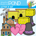 H Set - Alphabet Phonics Clipart for Teachers