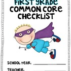 HALF First Grade Common Core MATH Checklist