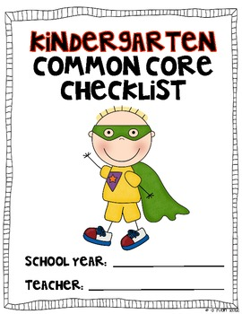 HALF Kindergarten Common Core MATH Checklist