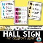 HALL sign for Classroom Display - Class Management