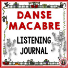 HALLOWEEN: Danse Macabre Listening Worksheets Grades 2-4