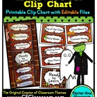 HALLOWEEN THEME CLIP CHART / BEHAVIOR PLAN-classroom theme