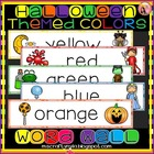 HALLOWEEN WORD WALL OF COLORS
