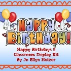 HAPPY BIRTHDAY BULLETIN BOARD SET and KIT