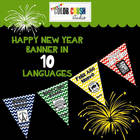 HAPPY NEW YEAR BANNER IN 10 LANGUAGES
