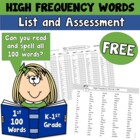HFW Assessment 1-300 Fry Words