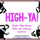HIGH-YA! Easter Ninja-Stache Math and Literacy Centers!  A