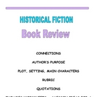 HISTORICAL FICTION BOOK REVIEW PACKET