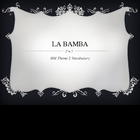 HM 5th Grade Vocabulary La Bamba