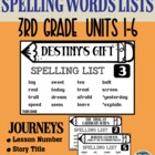 HM Journeys – Spelling Lists Grade 3