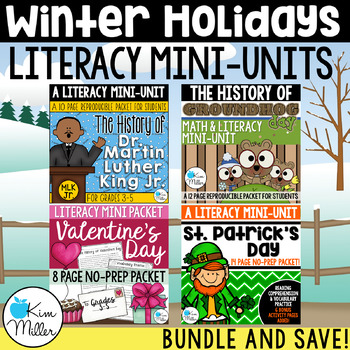 HOLIDAY BUNDLE! MLK Jr., Valentine's Day, St.Patrick's Day