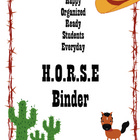 HORSE Binder/Folder for Student Organization