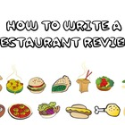 HOW TO WRITE A RESTAURANT REVIEW POWER POINT