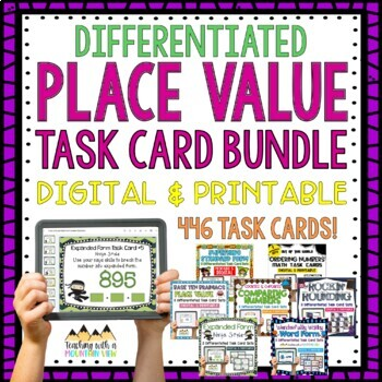 *HUGE* Place Value Task Cards BUNDLE { Common Core & Differentiated }