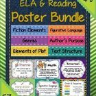 HUGE Reading & ELA Poster Bundle for Grades 4-8 ~ 57 Class