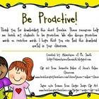 Habit 1 - Be Proactive Activities and Resources