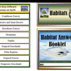 Habitat Mini Answer Booklet  Science Answer Booklet Food Chains