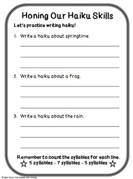 Haiku Poems: Honing Our Haiku Skills