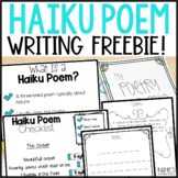 Haiku Poetry Freebie!: From my Poetry Unit Bundle!