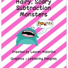 Hairy, Scary Subtraction Monsters Math Craftivity