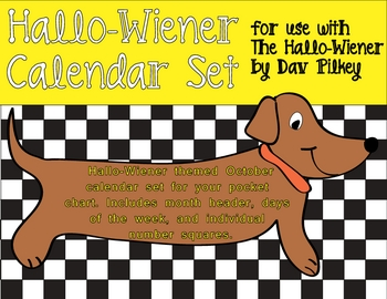 Hallo-Wiener by Dav Pilkey October Pocket Chart Calendar H