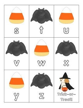 Halloween ABC Matching - Uppercase and Lowercase