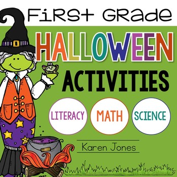 Halloween Activities for 1st Grade with ELA & Math Common Core!