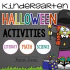 Halloween Activities for Kindergarten with ELA & Math Comm