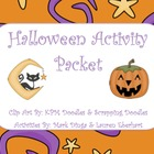 Halloween Activity Packet (Center Game, Writing Prompts, M