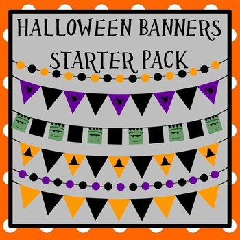 Halloween Banners and Bunting Starter Pack