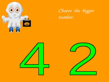Halloween Bigger Number- Great for AimsWeb Quantity Discri