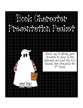 Halloween Book Character Presentations