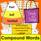 Halloween Candy Corn Compound Words Puzzles - 96 Compound Words