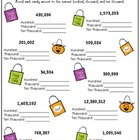 Halloween &quot;Candy Count Rounding&quot; Practice