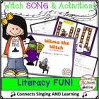 Halloween Color Song! Wilma the Witch-Shared Reading Singable!