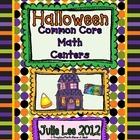 Halloween Common Core Math Centers
