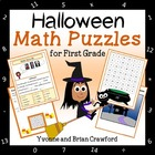 Halloween Common Core Math Puzzles - 1st Grade