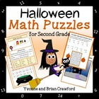 Halloween Common Core Math Puzzles - 2nd Grade